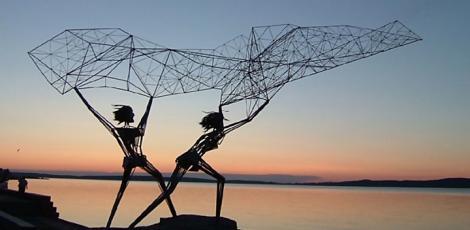 Пешеходная экскурсия по уникальному музею современного искусства под открытым небом  (экспозиция скульптур на набережной Онежского озера)