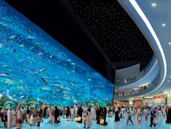 Аквариум в «Дубай Молл»